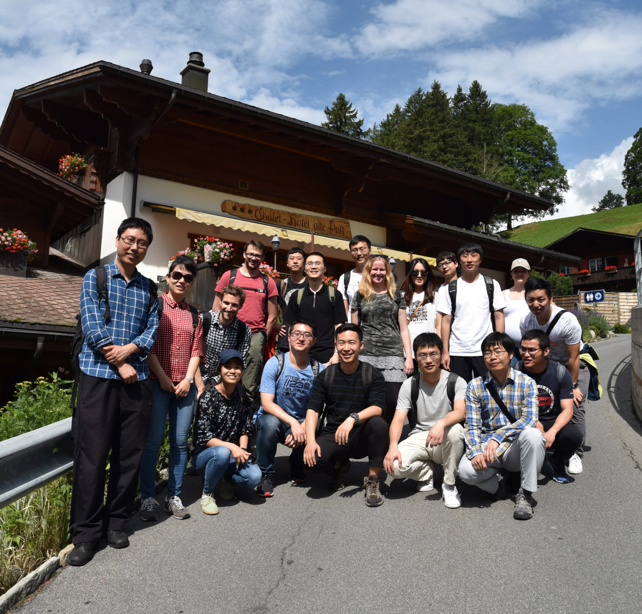 Industrial Ecology Group Picture at Ruetli